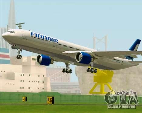 Airbus A330-300 Finnair (Old Livery) para GTA San Andreas vista inferior