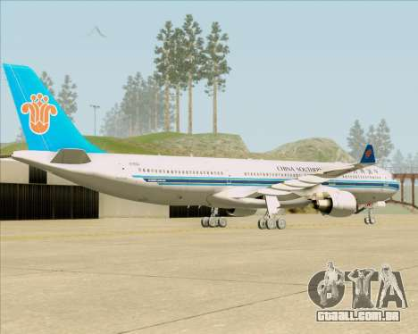 Airbus A330-300 China Southern Airlines para GTA San Andreas vista direita