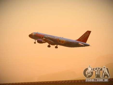 Airbus A320-214 TAM Airlines RIO para GTA San Andreas vista traseira
