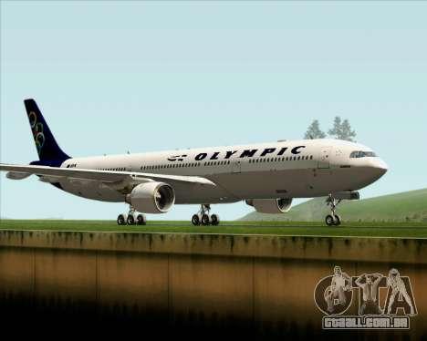 Airbus A330-300 Olympic Airlines para GTA San Andreas esquerda vista