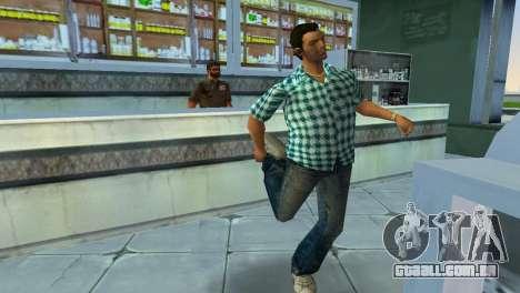 Kockas polo - vilagoskek T-Shirt para GTA Vice City terceira tela