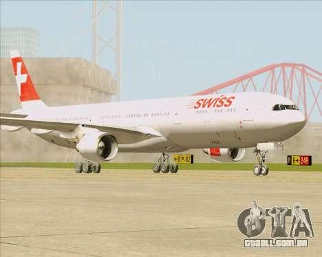 Airbus A330-300 Swiss International Air Lines para GTA San Andreas esquerda vista