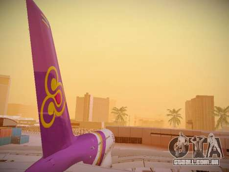 Airbus A380-800 Thai Airways International para GTA San Andreas vista inferior