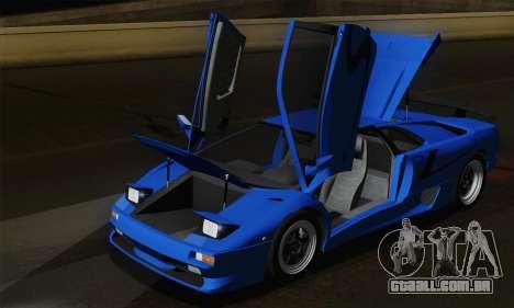 Lamborghini Diablo SV 1995 (ImVehFT) para GTA San Andreas vista inferior