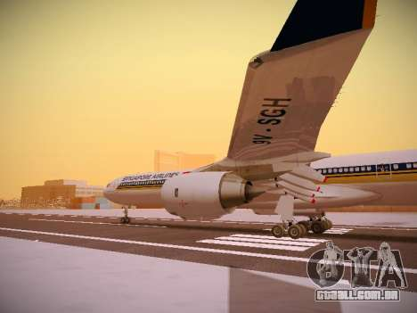 Airbus A340-600 Singapore Airlines para GTA San Andreas vista superior