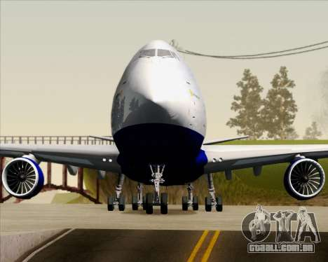 Boeing 747-8 Cargo British Airways World Cargo para GTA San Andreas vista inferior