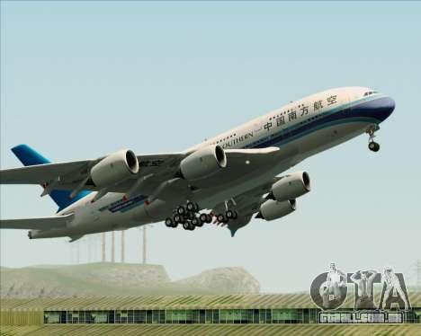 Airbus A380-841 China Southern Airlines para GTA San Andreas vista inferior