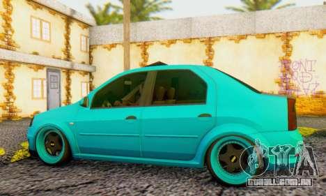 Dacia Logan Pearl Blue para GTA San Andreas traseira esquerda vista