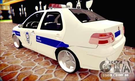 Fiat Albea Police Turkish para GTA San Andreas vista interior