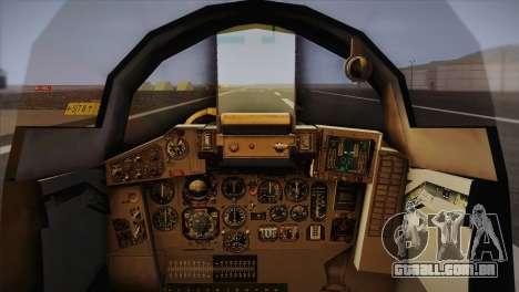 MIG 29 Russian Air Force From Ace Combat para GTA San Andreas vista traseira