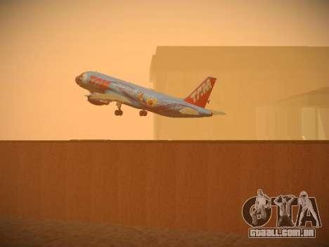 Airbus A320-214 TAM Airlines RIO para GTA San Andreas interior