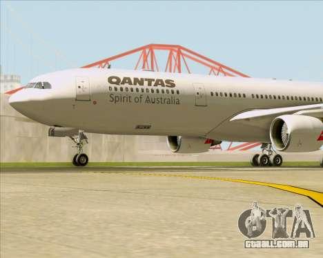Airbus A330-300 Qantas para GTA San Andreas vista inferior