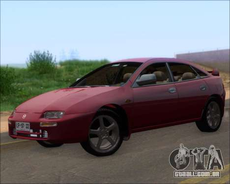 Mazda 323F 1995 para GTA San Andreas esquerda vista
