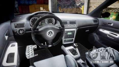 Volkswagen Golf Mk4 R32 Wheel1 para GTA 4 vista interior