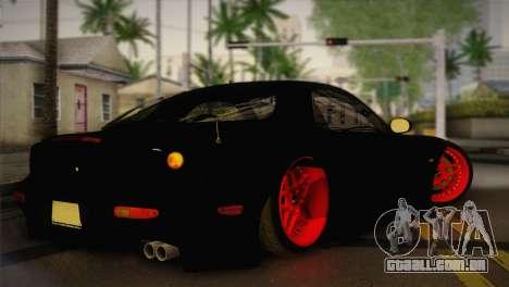 Mazda RX-7 Drift para GTA San Andreas esquerda vista