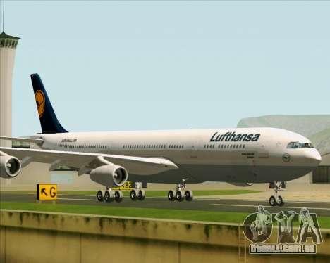 Airbus A340-313 Lufthansa para GTA San Andreas traseira esquerda vista