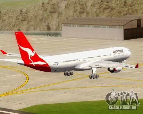 Airbus A330-300 Qantas para GTA San Andreas vista interior