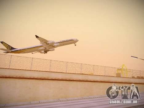 Airbus A340-600 Singapore Airlines para GTA San Andreas vista direita