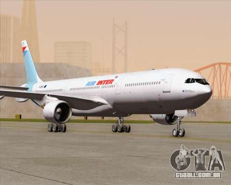 Airbus A330-300 Air Inter para GTA San Andreas vista superior