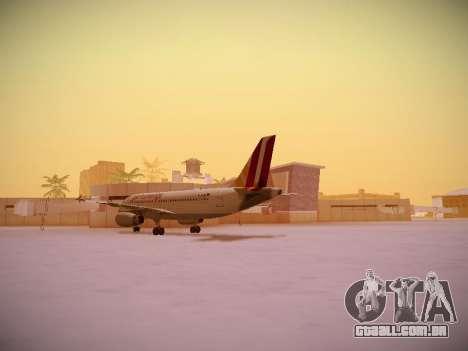 Airbus A319-132 Germanwings para GTA San Andreas vista traseira