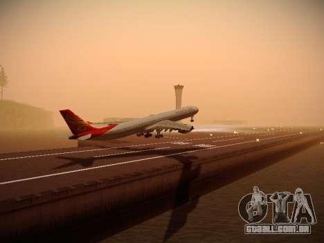 Airbus A340-600 Hainan Airlines para GTA San Andreas vista direita