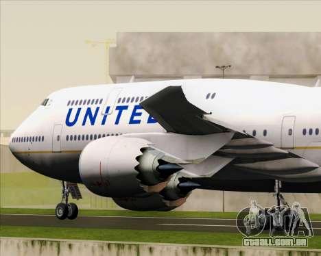 Boeing 747-8 Intercontinental United Airlines para GTA San Andreas vista inferior