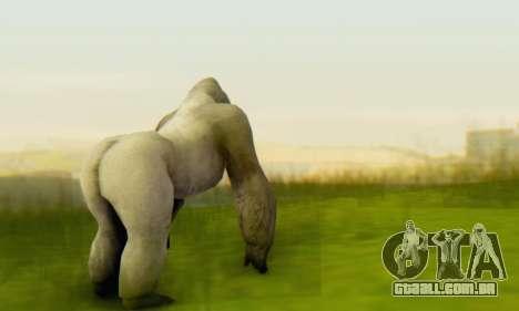 Gorilla (Mammal) para GTA San Andreas terceira tela