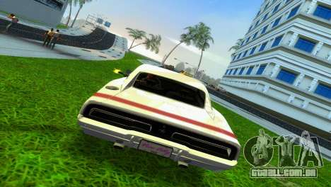 Dodge Charger 1967 para GTA Vice City vista traseira esquerda