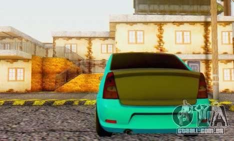 Dacia Logan Pearl Blue para GTA San Andreas vista traseira