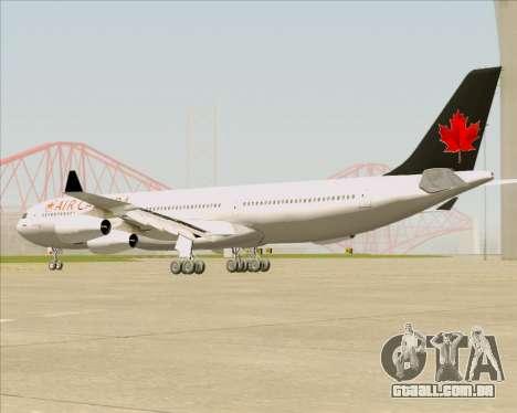 Airbus A340-313 Air Canada para GTA San Andreas traseira esquerda vista