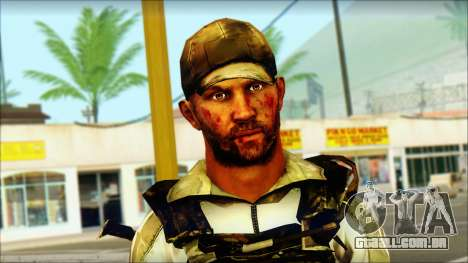 Taliban Resurrection Skin from COD 5 para GTA San Andreas terceira tela
