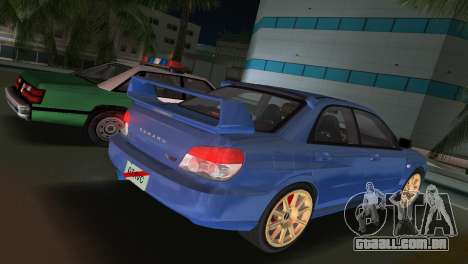 Subaru Impreza WRX STI 2006 Type 1 para GTA Vice City deixou vista