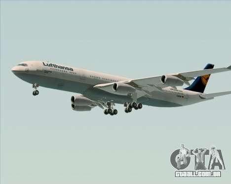 Airbus A340-313 Lufthansa para vista lateral GTA San Andreas