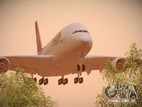 Airbus A380-800 Thai Airways International para GTA San Andreas esquerda vista