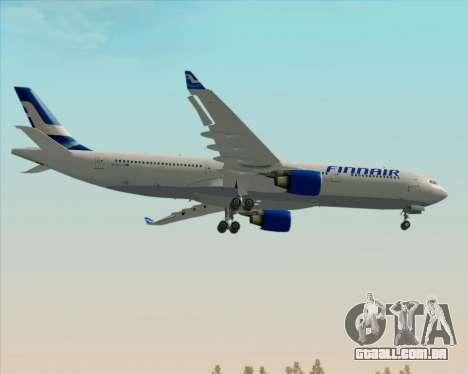 Airbus A330-300 Finnair (Old Livery) para GTA San Andreas vista traseira