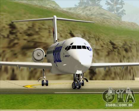 McDonnell Douglas MD-82 Spanair para GTA San Andreas vista inferior
