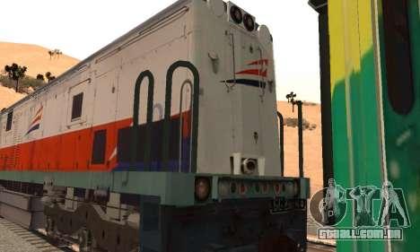GE U18C CC 201 Indonesian Locomotive para GTA San Andreas vista direita