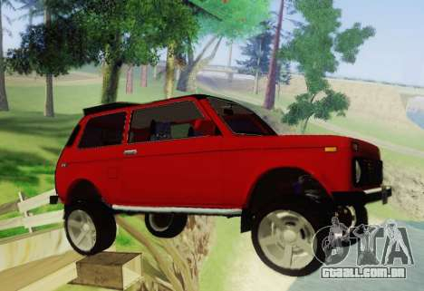 LADA-212180 Fora para GTA San Andreas vista traseira