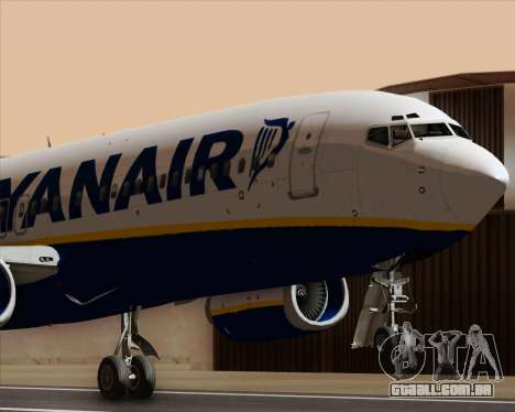 Boeing 737-8AS Ryanair para vista lateral GTA San Andreas
