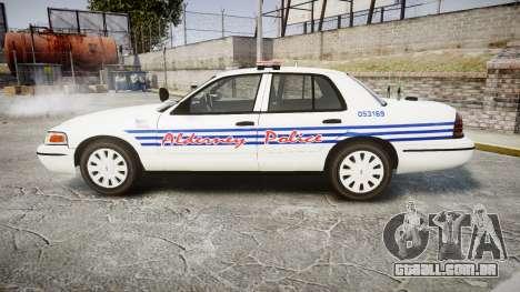 Ford Crown Victoria Alderney Police [ELS] para GTA 4 esquerda vista