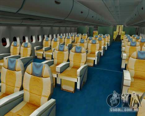 Airbus A380-841 Singapore Airlines para GTA San Andreas interior