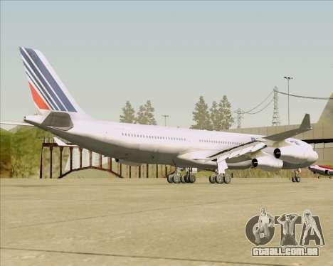 Airbus A340-313 Air France (Old Livery) para GTA San Andreas vista direita
