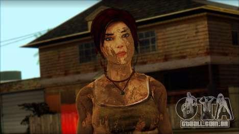 Tomb Raider Skin 10 2013 para GTA San Andreas terceira tela