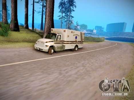 Pierce Commercial Grasonville Ambulance para GTA San Andreas vista interior