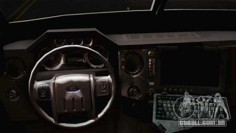 FBI Armored Vehicle v1.2 para GTA San Andreas traseira esquerda vista