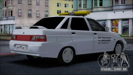 VAZ 2110 Cara de Sapo para GTA San Andreas traseira esquerda vista