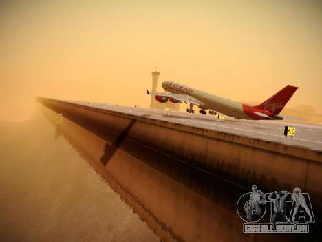 Airbus A340-600 Virgin Atlantic New Livery para GTA San Andreas interior