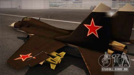MIG 29 Russian Air Force From Ace Combat para GTA San Andreas esquerda vista