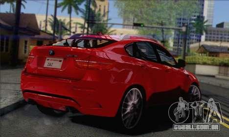 BMW X6M 2013 v3.0 para GTA San Andreas esquerda vista