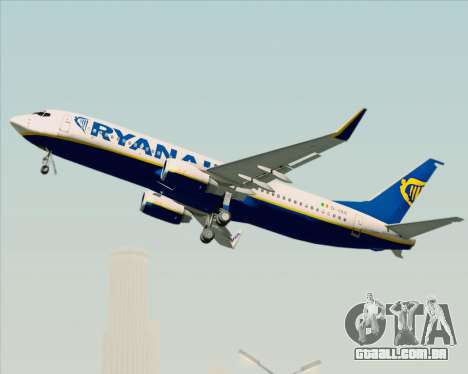 Boeing 737-8AS Ryanair para GTA San Andreas vista superior